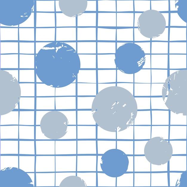 Modèle sans couture de cercles et triangles abstraits Vecteur Premium