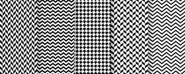 Modèle Sans Couture à Chevrons. Imprimé Sergé à Chevrons, Zigzag, Chevron. Texture Tweed Vecteur Premium