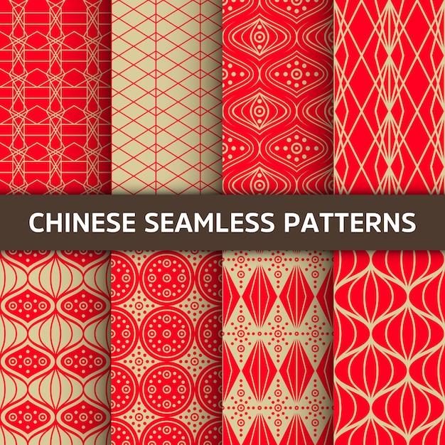 Modèle sans couture chinois. Vecteur gratuit