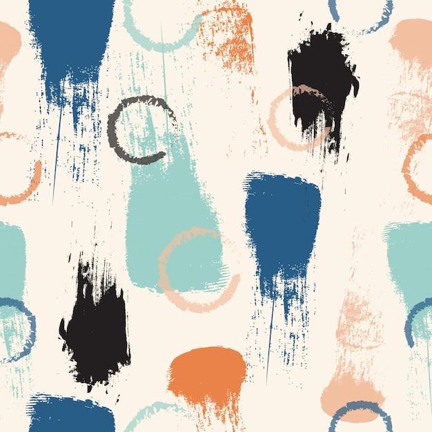 Modèle sans couture de coup de pinceau pastel abstrait Vecteur Premium