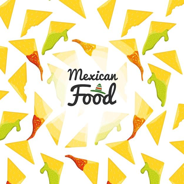 Modèle Sans Couture De Cuisine Mexicaine De Cuisine Vecteur Premium