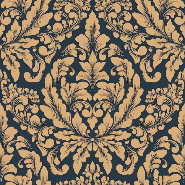 Modèle Sans Couture Damassé De Vecteur. Ornement Damassé à L'ancienne Classique De Luxe, Papier Peint Victorien Royal Vecteur gratuit