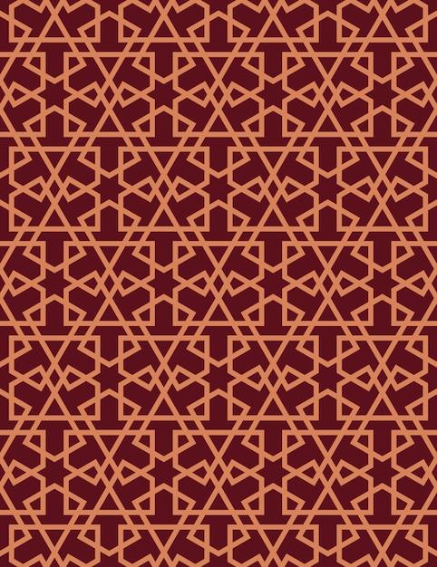 Modèle sans couture dans le style islamique. Vecteur Premium