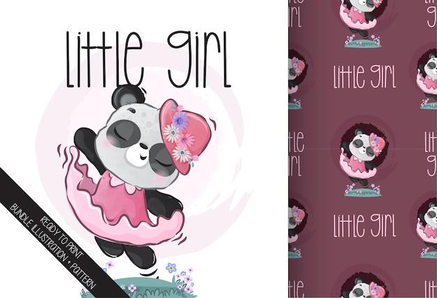 Modèle Sans Couture De Danse Mignon Animal Joli Panda Vecteur Premium
