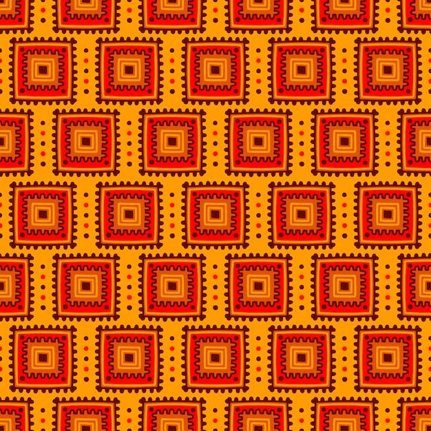 Modèle sans couture ethnique. ligne tribale imprimée en style africain, mexicain et indien Vecteur Premium