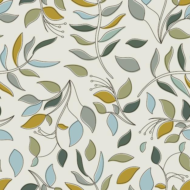Modèle sans couture de feuilles tropicales Vecteur Premium