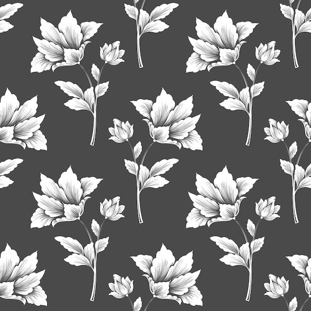 Modèle Sans Couture De Fleur De Vecteur Vecteur gratuit