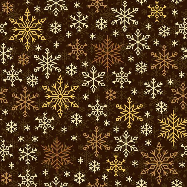 Modèle sans couture de flocon de neige, ligne de neige hiver ornamrnt, papier d'emballage,. Vecteur Premium