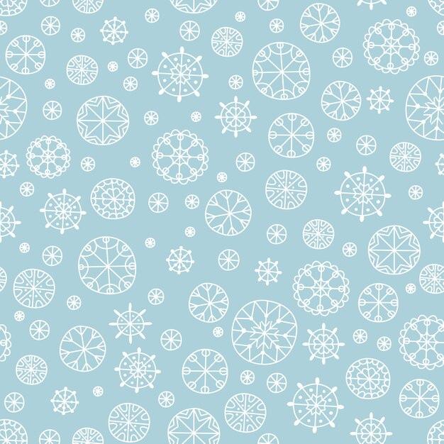 Modèle Sans Couture De Flocon De Neige Noël Et Nouvel An Vecteur Premium