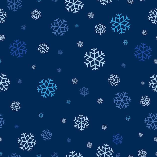 Modèle sans couture de flocon de neige reproductible. Vecteur Premium