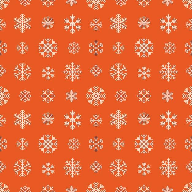 Modèle sans couture avec des flocons de neige blancs Vecteur Premium