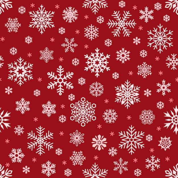 Modèle sans couture de flocons de neige. flocon de neige de noël Vecteur Premium