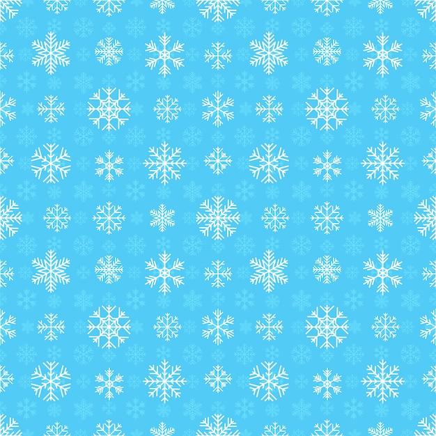 Modèle sans couture avec des flocons de neige Vecteur Premium