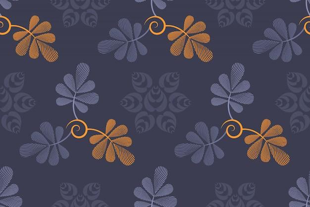 Modèle sans couture florale de vecteur Vecteur Premium