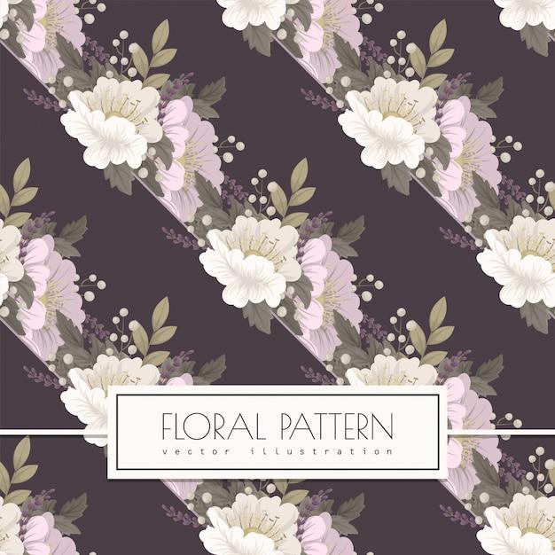 Modèle sans couture de fond floral rose Vecteur gratuit