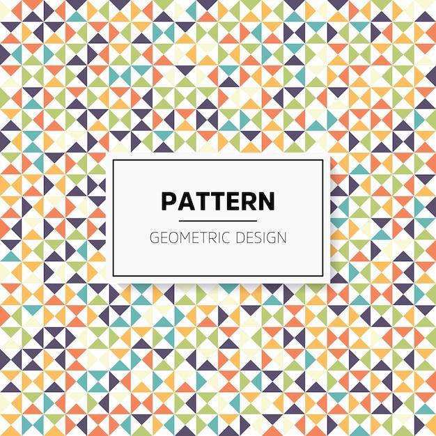 Modèle sans couture géométrique abstrait irrégulier coloré Vecteur gratuit