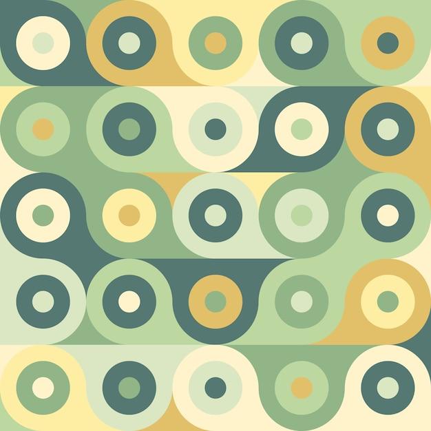 Modèle sans couture géométrique abstrait rétro. Vecteur Premium