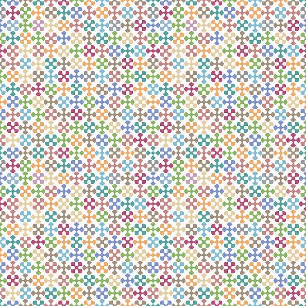 Modèle sans couture géométrique coloré Vecteur Premium