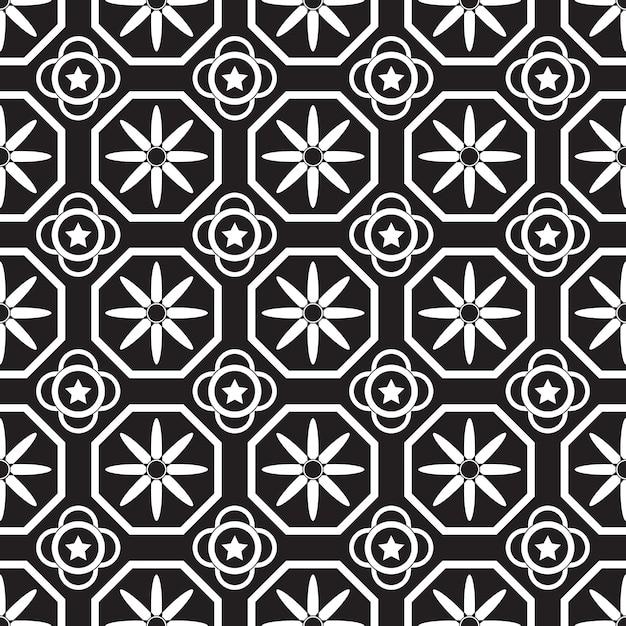 Modèle sans couture géométrique. fond noir et blanc Vecteur Premium