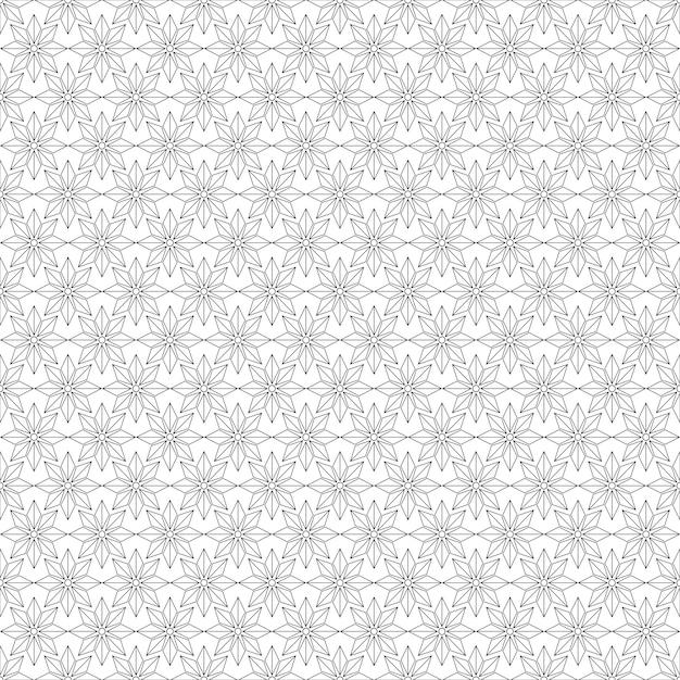 Modèle Sans Couture Géométrique. Fond Noir Et Blanc. Vecteur Premium