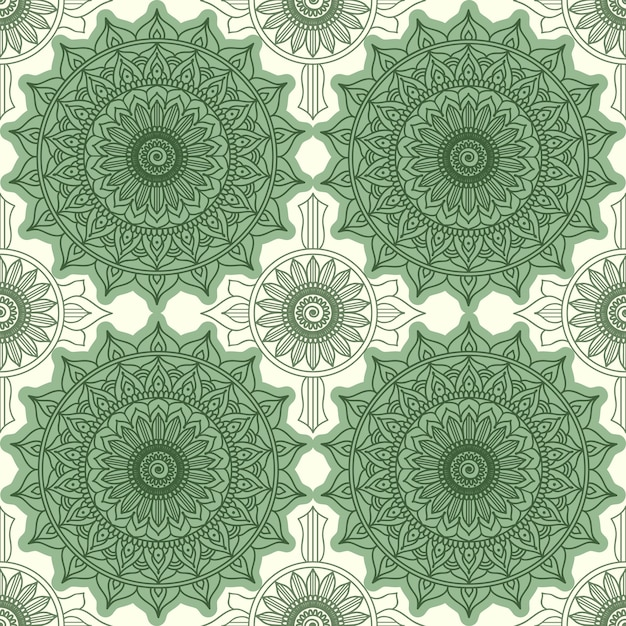 Modèle Sans Couture Géométrique Moderne. Décoration Florale, Ornement Rond Vecteur gratuit