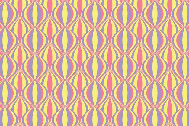 Modèle Sans Couture Groovy Géométrique Pastel Vecteur gratuit