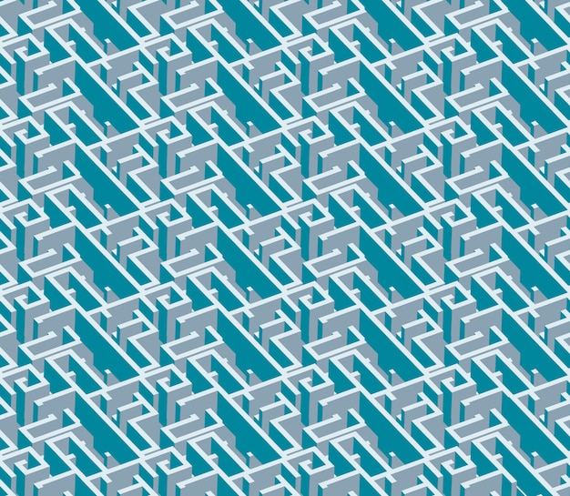 Modèle Sans Couture De Labyrinthe Coloré Abstrait Créatif. Modèle D'illustration Géométrique De Conception De Style Moderne De Vecteur Vecteur Premium