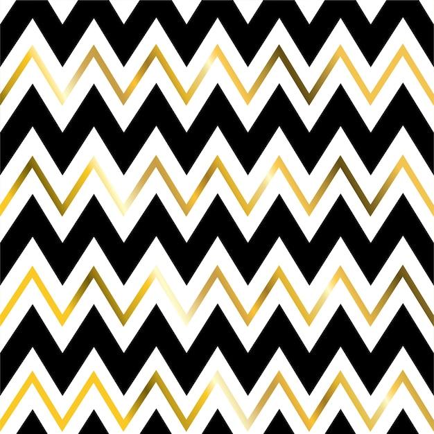 Modèle Sans Couture De Ligne Géométrique En Zigzag Or. Vecteur Premium