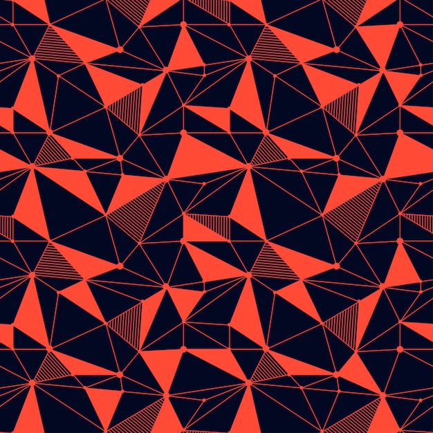 Modèle sans couture de lignes géométriques Vecteur Premium