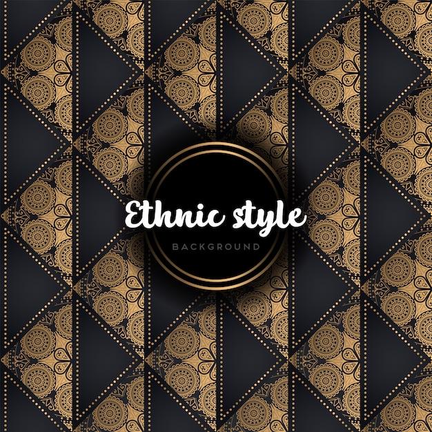 Modèle Sans Couture De Luxe Vecteur Vecteur gratuit
