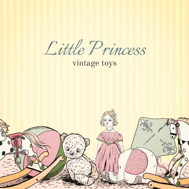 Modèle sans couture de magasin de jouets vintage Vecteur gratuit