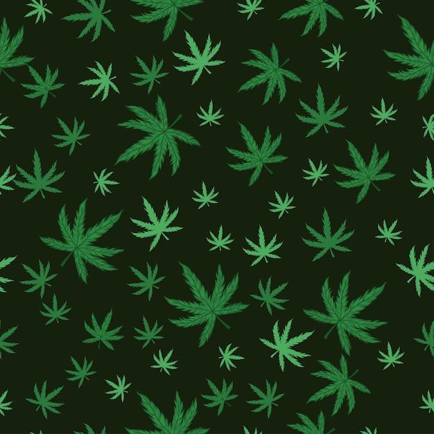 Modèle Sans Couture De Marijuana. Vecteur Premium