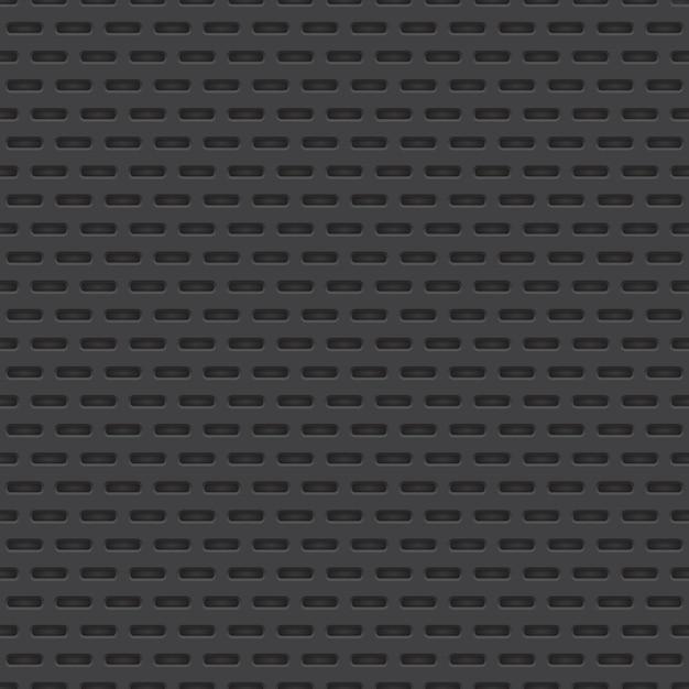 Modèle sans couture de matériau perforé de vecteur Vecteur Premium