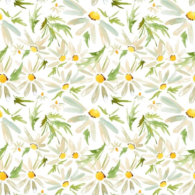 Modèle sans couture meadow daisy Vecteur Premium