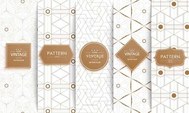 Modèle sans couture de mode décorative élégante. Vecteur Premium