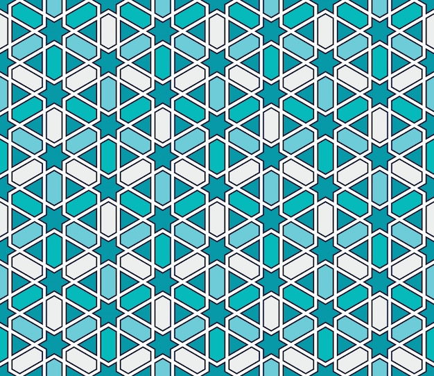 Modèle sans couture de mosaïque de style marocain Vecteur Premium