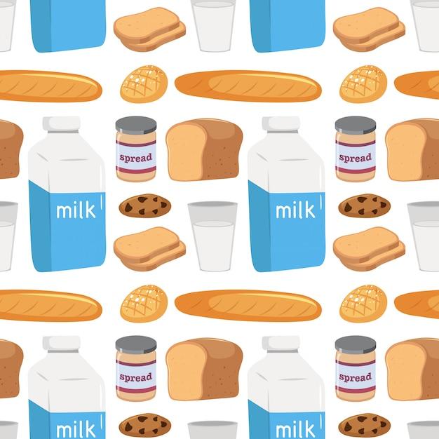 Modèle sans couture de la nourriture Vecteur gratuit
