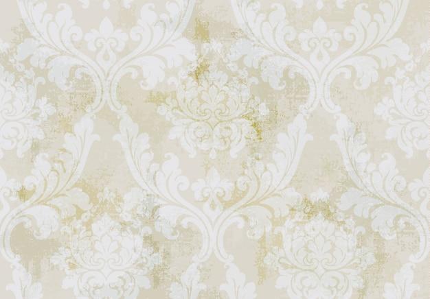 Modèle sans couture d'ornement vintage. design de luxe texture baroque rococo. décors textiles royaux. Vecteur Premium