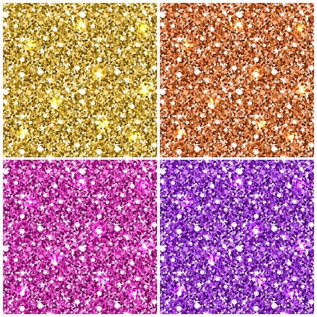 Modèle sans couture de paillettes d'or Vecteur Premium