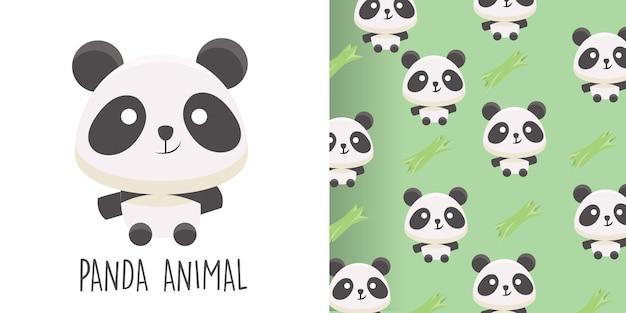 Modèle sans couture panda Vecteur Premium