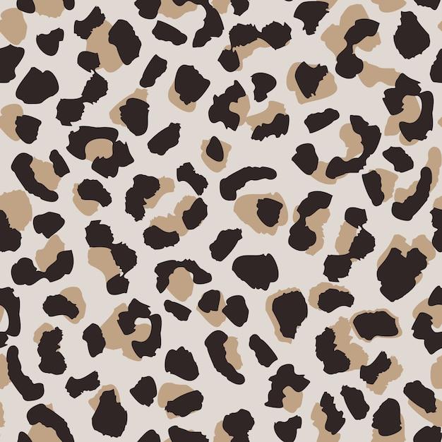 Modèle sans couture de peau abstraite léopard. Vecteur Premium