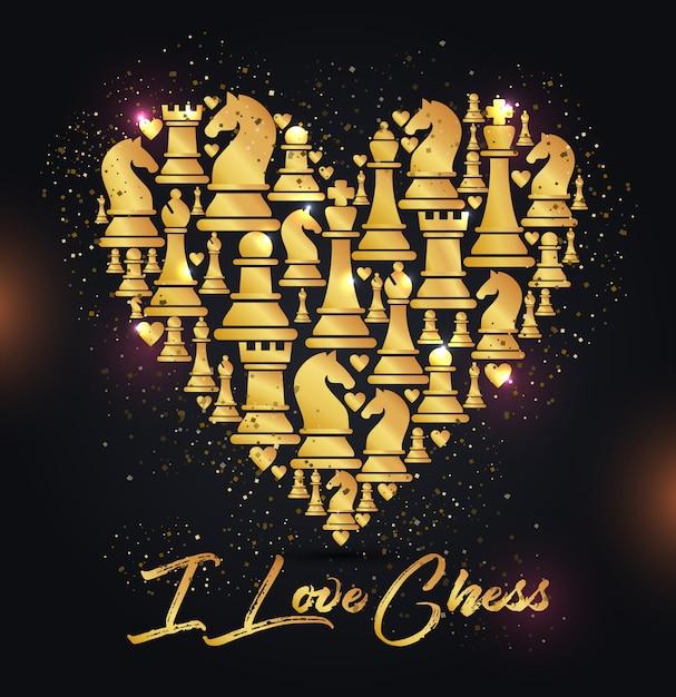 Modèle sans couture avec des pièces d'échecs Vecteur Premium