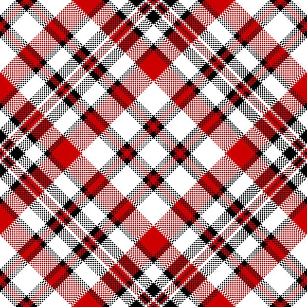 Modèle sans couture de pixel carré blanc contrôle diagonale rouge Vecteur Premium