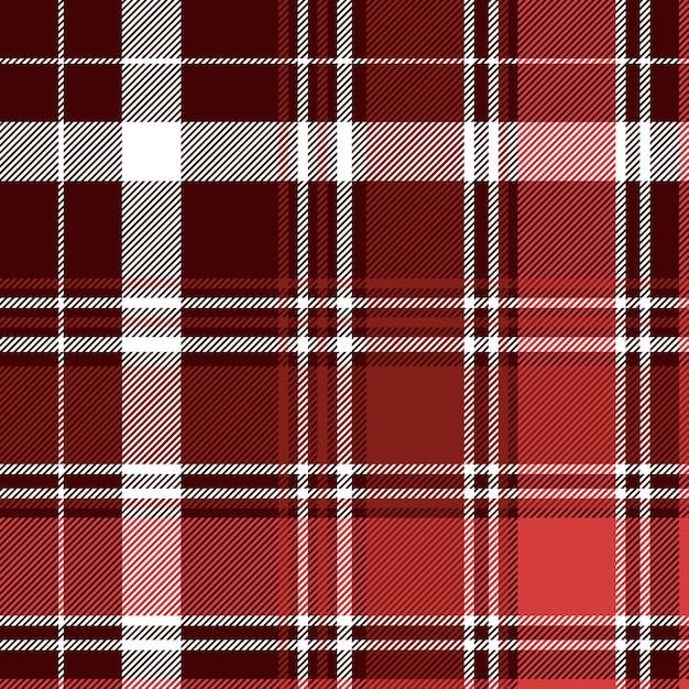 Modèle Sans Couture Plaid Abstrait Diagonale Rouge Vecteur Premium