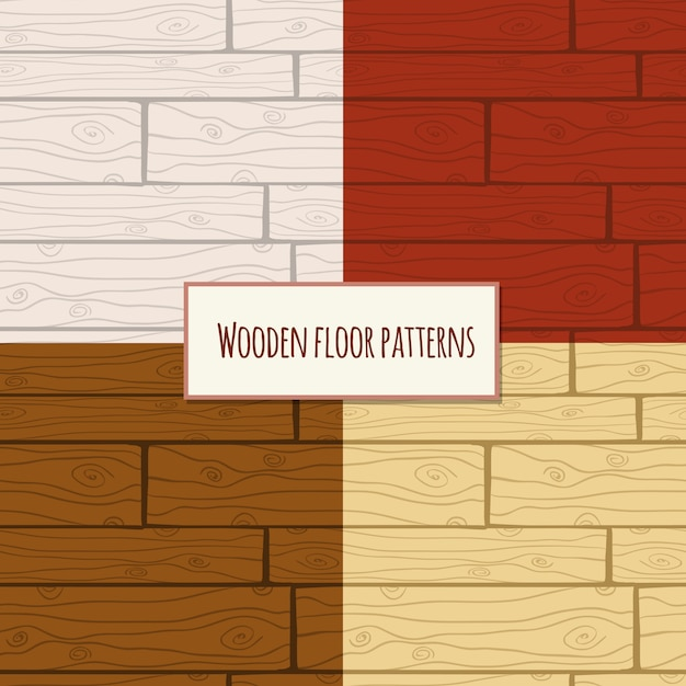 Modèle sans couture de plancher en bois Vecteur gratuit