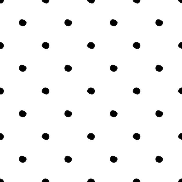 Modèle Sans Couture à Pois Sur Fond Blanc. Vecteur Premium