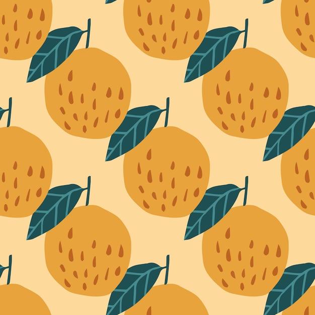 Modèle sans couture de pommes et feuilles bio Vecteur Premium