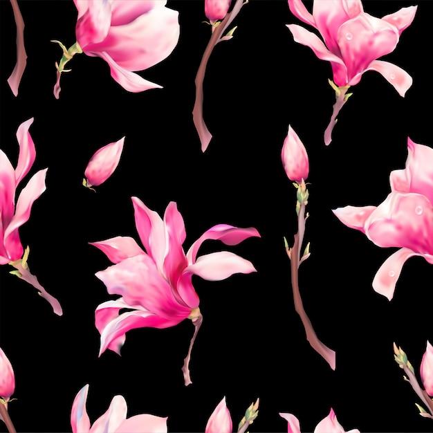 Modèle sans couture de printemps floral vector Vecteur Premium