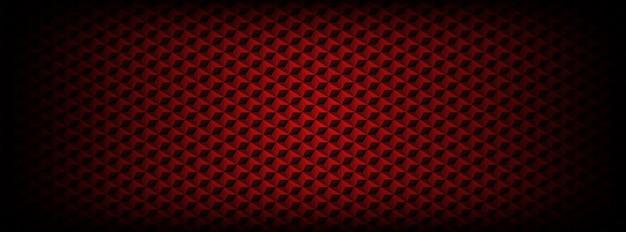 Modèle Sans Couture Rouge Foncé Avec Fond D'hexagones Vecteur Premium
