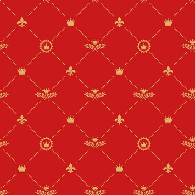 Modèle Sans Couture Royal Antique. Vecteur gratuit